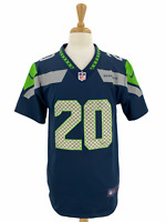 Seattle Seahawks Rashaad Penny #20 Nike Men's Navy NFL Player Game Jersey Size S