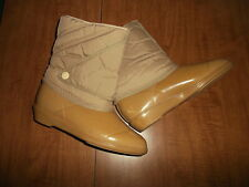 JCPenney womens size 5 beige rubber waterproof insulated boots NEW vintage