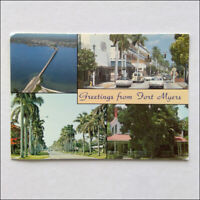 Greetings from Fort Myers The City of Palms Postcard (P373)