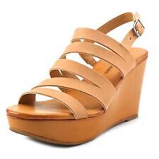 Calzado de mujer sandalias con plataforma de piel talla 39