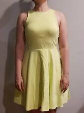 Bebe Neon Yellow Open Back Dress Women's M