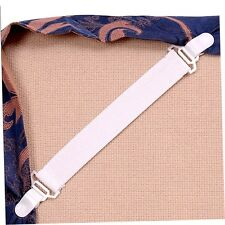 4 Bed Sheet Mattress Cover Blankets Grippers Clip Holder Fasteners Set YH