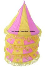 Indian Style Lighting Lampshade 4 Step Mirror Embroidery Home Patio Garden Decor