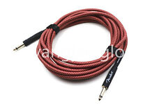 20ft Red Electric Guitar Cable Amp Lead Cord Amplifier Cable Low Noise Shielded