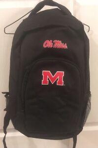 NWT Ole Miss Black Back Pack, University of Mississippi