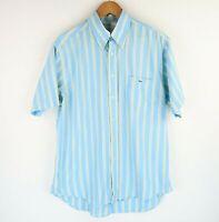 Lacoste Mens Smart Casual Shirt Short Sleeve Striped SZ Large (E2747)