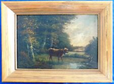Oil Paintings Landscape & Animal Millrese(?) Framed Oil/Canvas