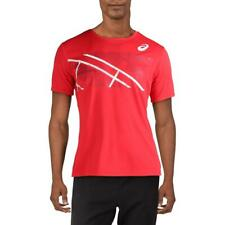 Asics Mens Red Fitness Workout Training T-Shirt Athletic L Bhfo 6325