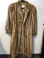 Rosendorf Evans Light Brown Mink Full Length Fur Coat