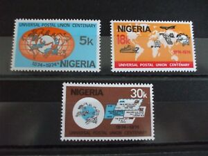 NIGERIA.- 1974 U.P.U. Full Set of 3 vs MH Cat 3.90 (11K)