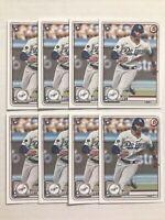 2020 Bowman #71 Gavin Lux RC Lot 8x Los Angeles Dodgers Rookie Card - 8-Card Lot