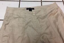 Ashley Stewart Linen Blend Pants Zip fly 4 Pockets jean stitch Women's Plus 14 W
