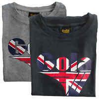 T-shirt Maglia Maniche Corte GOLA Classic 100% Cotone Uomo Men Grigio Grey Nero