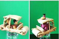Rare Vintage ~THE FLINTSTONES MOBILE ~ Dino Fred & Barney figures - Lot of 2