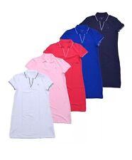 NWT TOMMY HILFIGER WOMENS COTTON LOGO PRINT BLUE POLO SHIRT DRESS SIZE XS