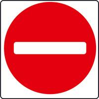 ADESIVO segnaletica VIETATO L'ACCESSO 120x120 mm. Not Entry Sticker