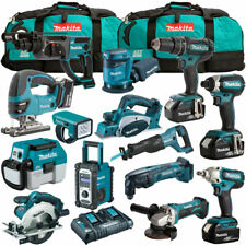 Makita 18V 14 Piece Cordless Kit 4 x 5.0Ah Batteries & Charger T4TKIT-1230