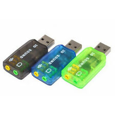 Carte 3D USB 2.0 Son Audio Sound Card 5.1 Adaptateur Sound Virtual Externe