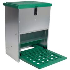 12 kg Futterautomat-Hühnerfutterautomat-Geflügelfutterautomat mit Trittklappe