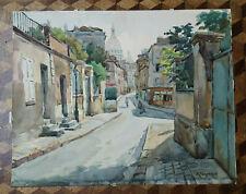 Aquarelle Robert BERGERON (1898-?) Paris France né Montataire creiol chantilly
