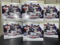 🔥 2020 Topps MLB Chrome Updates Baseball Trading Card Mega Box LOT OF 6 🔥