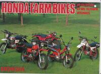Mid 1980s HONDA FARM BIKES 6p Japanese Brochure in English CT125 CT185 XL200FM