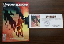 Tomb Raider Survivor's Crusade #1 signed by Ashley Woods with Notarized WOS