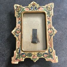 CADRE Carton Polychrome Verre XIXème Polychrome Cardboard Frame Glass 19thC