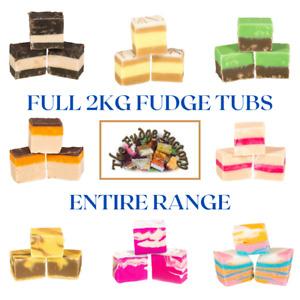 Fudge Factory Entire Range Full Fudge Tub 2kg Gift