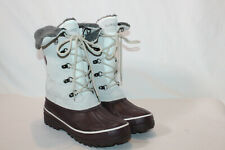 Sporto womens 9.5 medium winter white wine lace up snow boots korrie