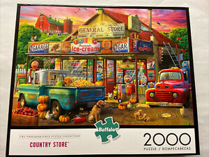 🟢 Country Store  2000 Piece Jigsaw Puzzle Labrador Trucks Same Day Shipping