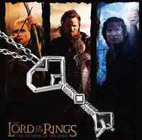 Lord Of The Rings Hobbit Oakenshield Metal Treasure Key Pendant Rope Necklace