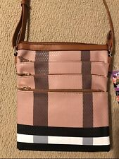 Inspired Plaid Crossbody Handbag NWT