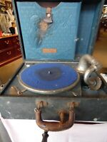 Vintage Working Gypsy Caswell Crank Portable Record Player