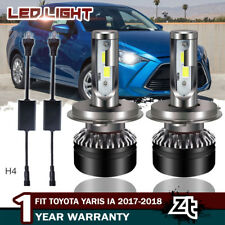 9003 H4 LED Headlight Bulbs High Low Beam 6000K For Toyota Yaris iA 2017-2018