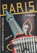"""""""PARIS POSTERS ETE 82"""" Affiche originale entoilée RAZZIA 46x64cm (TOUR EIFFEL)"""