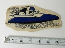 VINTAGE 1950's SPEED BOAT RACING PATCH