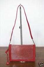 Neu Coccinelle Leder Schultertasche Handtasche Crossbag Clutch Rot 1-15 (289)