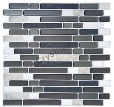"Crystiles® Peel&Stick Self-Adhesive Tiles, Item# 91010822, 10""X10"", Set of 6"