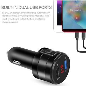 Drahtloser Bluetooth 5.0 Auto FM Sender MP3 AUX Radio Dual USB Port Ladegerät