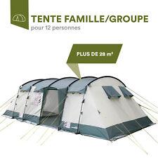 Skandika Hurricane 12 Tente Familiale Groupe Tunnel 12 Personnes Vert NEUVE