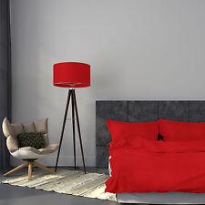 Seersucker Bettwäsche 135x200 Rot Uni Einfarbig Garnitur Baumwolle Bügelfrei Neu