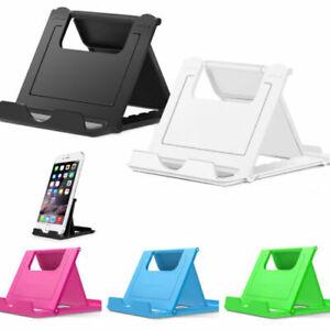 Universal Adjustable Mobile Phone Holder Stand Desk Tablet Foldable Portable UK