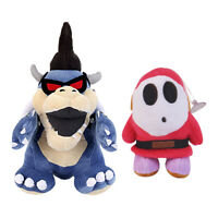 Super Mario Bros. Dark Bowser Koopa and Shy Guy Stuffed Plush Doll 2pcs