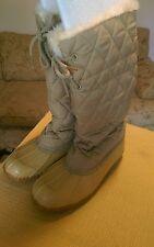 Herman Survivors Women's Duck Boot Snow Boots Sz 9 M Faux Fur Lined Gold