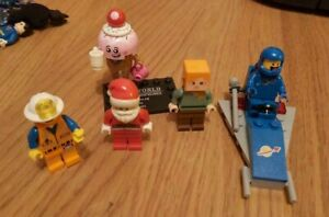 LEGO. Lego City: 5 special figures and single space ship as pictured. vgc.