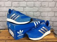 ADIDAS ORIGINALS MENS UK 8 EU 42 BLUE WHITE SILVER ATLANTA TRAINERS SUEDE