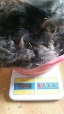 RAW Alpaca Wool Fiber Fleece Spin Felting Black/Gray 8.0 OZ