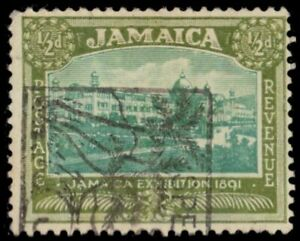 "JAMAICA 88 (SG91) - Exhibition Buildings ""1922 Printing"" (pf77555)"