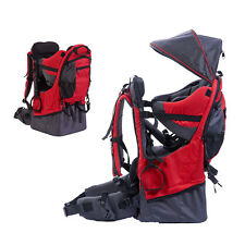 Baby toddler Hiking Backpack Carrier w/ Stand Child Kid Sun/Rain canopy Shield